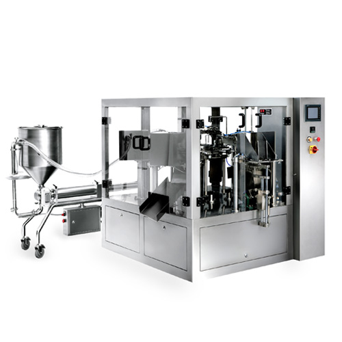 liquid rotary pouch packaging Line