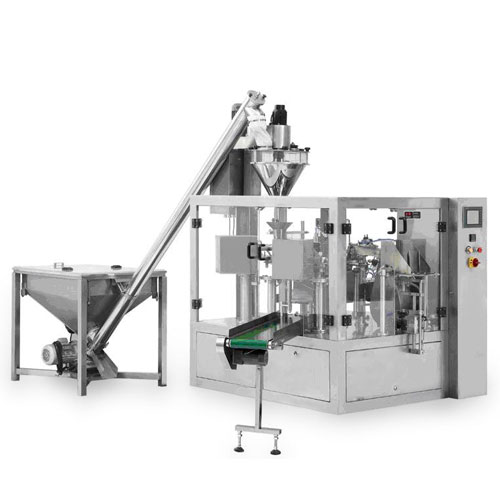 powder rotary  pouch packaging Line